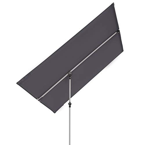Doppler Active Balkonblende - Rechteckiger Sonnenschirm ideal für den Balkon -Plus Sichtschutz - 180x130 cm - Anthrazit
