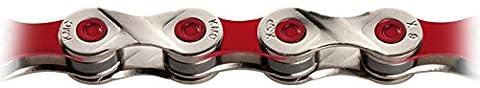 KMC X9 Vivid 9 Speed Chain - Red