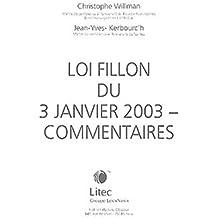 61e96ede75e Loi Fillon du 3 janvier 2003   Commentaires (ancienne édition)