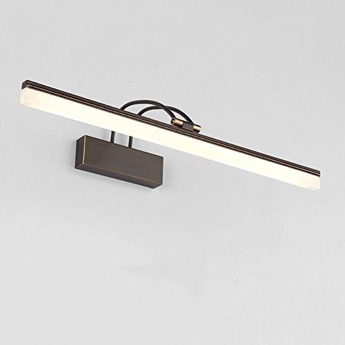 XUERUI Lampe De LED, 8W-15W Chauffent Les Lumières Blanches De Salle De Bains, Conducteur D'EMC, 39-73CM X 7CM X 4.5cm, Énergie Savin (Couleur : Noir, taille : 53cm)