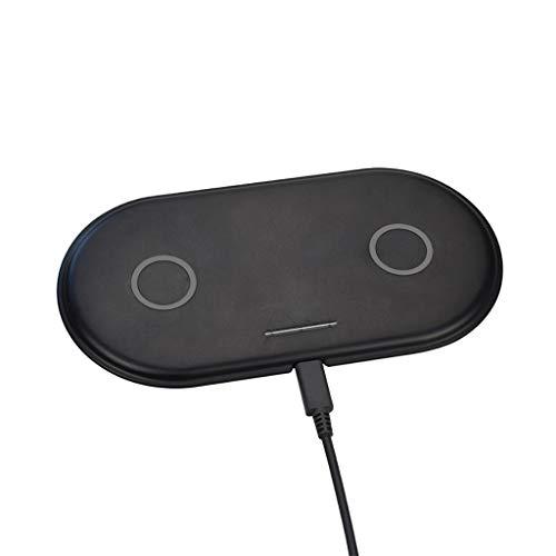 Fcostume Qi Wireless 2 in 1 7.5W Schnellladegerät Ladehalter Paddock Ständer für Apple Watch Serie 4 40 / 44mm für airpods (Schwarz) Apple-platte