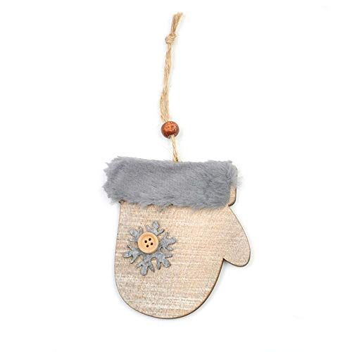 m Sterne Bell Holz Wolle Diamant Anhänger Hut Handschuh Stiefel Schneeflocke Taste Christmas Ornaments ()