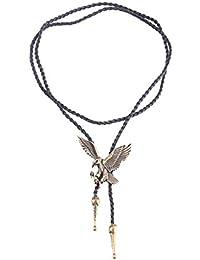 Baoblaze Bolo Tie Corbata Cordón Colgante Águila para Hombres Vaquero 5741fff79a5