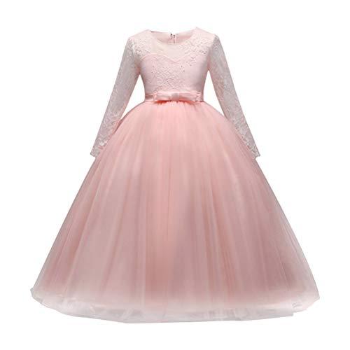 Zhhlaixing Kinder Kleid Röcke Mädchen Blume Formale Hochzeit Brautjungfer Party Outfits Kleidung für Weihnachten Halloween (Dress Up Girl School Outfits)