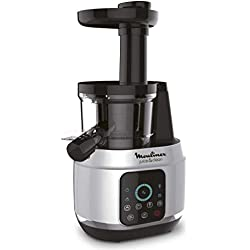 Moulinex ZU420E10 Extracteur de Jus Juice & Clean Fruits et Légumes Nettoyage Automatique Pressoir 150W De 42 à 83 tours / minute Confiture Coulis Sorbet Aluminium