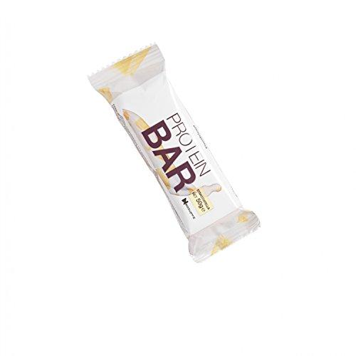 Neosupps Protein Bar Riegel Stracciatella   Leckerer 50 % Eiweißriegel   Proteinreicher Snack für Zwischendurch   Süßigkeitenersatz   50g Protein Riegel , Gewicht:50g