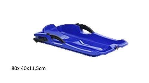 Kunststoffrodel 80x 40x11,5cm Farbe Blau