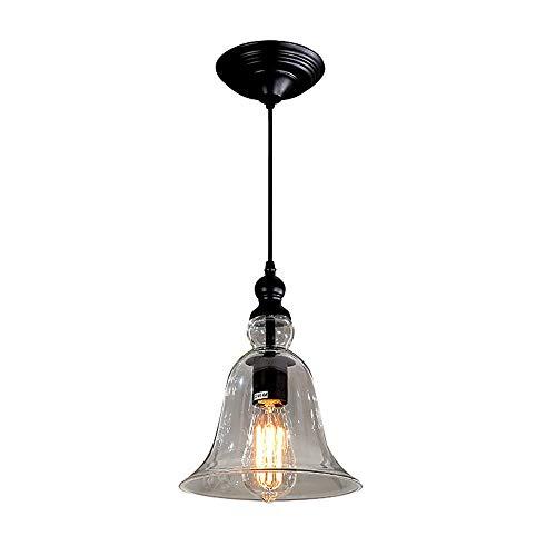 EIN-Leicht-Indoor Mini Pendant, Öl Rubbed Bronze Finish mit Clear Bell Glass Modern Vintage Farmhouse Küchen-Lampe -
