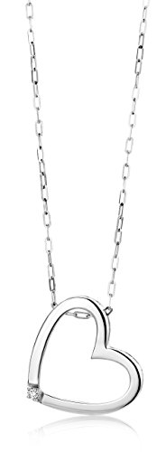 Miore - Colgante de mujer con plata de ley (925/1000), diamante redondo,...