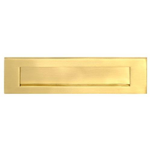 House of Brass L03-SB - Placa de latón con centro de tornillos, 25,4 x 7,62 cm, 223 mm