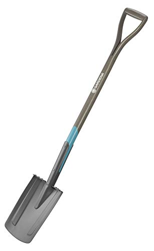 Gardena bêche à bord droit NatureLine: bêche de jardin en acier pour bêcher et creuser, repose-pieds sécurisé et manche bois de frêne FSC (17000-20)