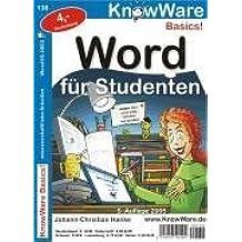 Word für Studenten. für Word 6-95, Word 97-2000 und Word 2002/XP/2003