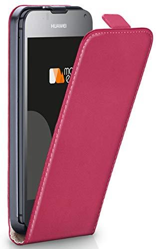 moex® Flip Case mit Magnetverschluss [R&um-Schutz] passend für Huawei Ascend Y300 | 360° Handycover aus feinem Premium Kunst-Leder, Pink