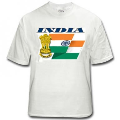 India Flagge T-Shirt (T-shirt Indien Flagge)