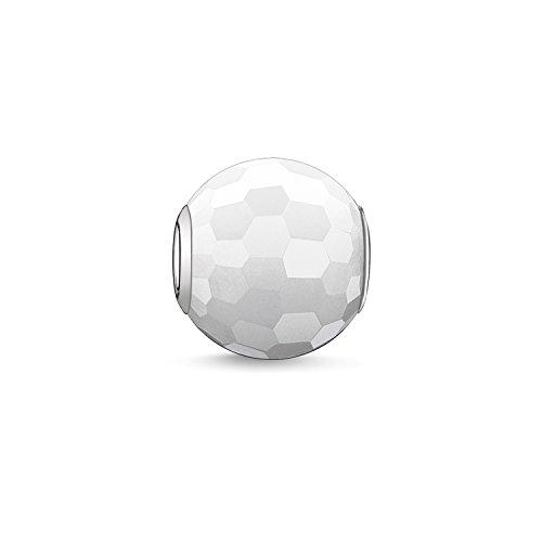 Thomas Sabo Damen-Bead Weiße Jade Karma Beads 925 Sterling Silber weiß K0007-588-14