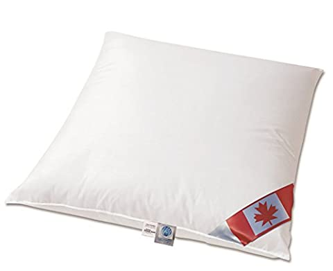 NEUHEIT: Premium Air Cell 3-Kammer Kissen außen: 100% Daune Canada Dreams 80x80 cm soft &