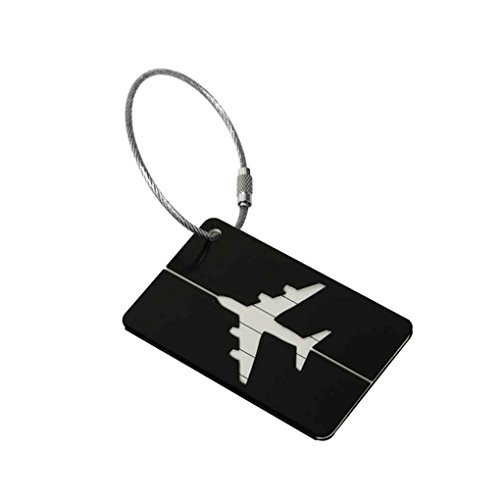 Uzinb Aluminiumkofferanhänger Koffer Label-Name Adresse ID-Tasche Gepäck Tag Reisen