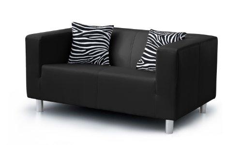 federkern schlafcouch B-famous 2-Sitzer Sofa Cube 135 x 85 cm, PU, schwarz