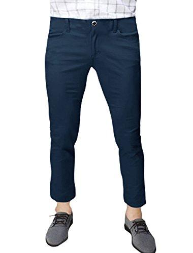 sourcingmap Hommes Taille Moyenne Poches En Biais Décontracté Pantalons Courts Bleu Marine