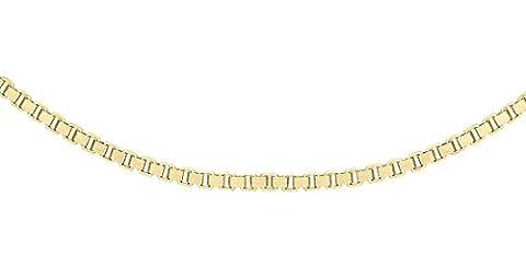 Carissima Gold 18ct Yellow Gold Box Venetian Chain 46cm