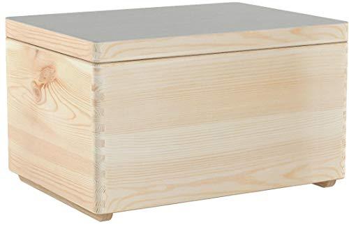 Creative Deco XXL Große Holzkiste mit Deckel | 40 x 30 x 24 cm | Kiste Holzbox Erinnerungsbox Holz-truhe Aufbewahrungs-Box Spielzeugkiste Unlackiert Kasten | Ideal für Spielzeuge und Werkzeuge