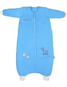 Schlummersack Schlafsack mit Füßen warm gefüttert für den Winter in 3.5 Tog mit langen Ärmeln - in verschieden...