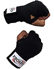 Prospo Canvas Boxing Hand Wraps - 108 inch (Black/Red/Blue)