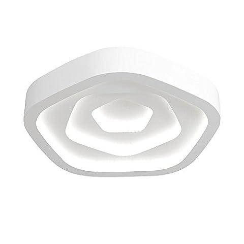 Warm und romantisch Rosette Stil Deckenleuchte, moderne minimalistische Augenschutz LED