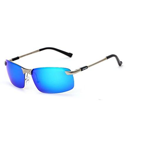 Ppy778 Sonnenbrillen Herren Sport Herren Polarisierte Sonnenbrillen Anti-Glare Driving Eyewear Metall Sonnenbrille (Color : 2)