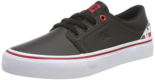 DC Shoes DCSHI Trase Se-Shoes for Boys, Zapatillas de Skateboard para Niños, Black/Multi, 38 EU