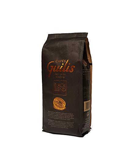 CAFES GUILIS Café en Grano Natural Black Blend de Tueste Natural 1 kg