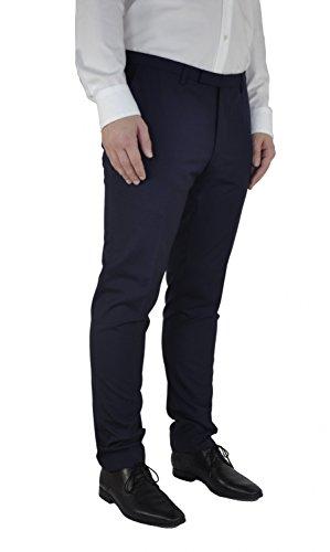 Michaelax-Fashion-Trade - Pantalon de costume - Uni - Manches Longues - Homme Blau (829)