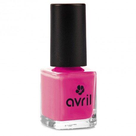 AVRIL - Vernis à Ongles Vegan Sans produits Chimiques - Rose Bollywood 57 - Application Facile, Non Testé sur les Animaux - 7ml