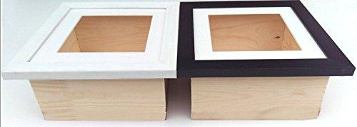 3D-Box Rahmen Display Fall Medaillen Wirft für Frame, Mitte, holz, weiß, A4 x 1
