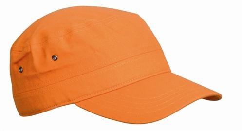 Army Military Cap im Kuba Castro Look in Orange orange