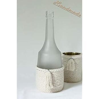 Dekoflasche Vase 'Troddel' handmade Einzelstück