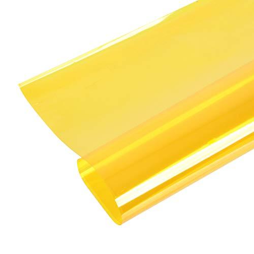 Selens 40x50cm Farbfolie Farbfilter Folie Professionel Transparente Farbkorrektur Beleuchtung Farbfolien für Foto Studio Strobe Blitz Flash Gelb