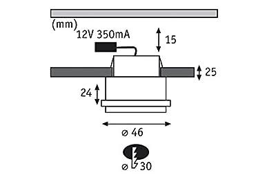 Einbaustrahler 4,6 cm Star ( 3er Set)