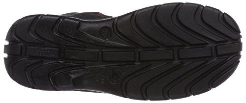 MTS Sicherheitsschuhe Melbourne S2 7153, Chaussures de sécurité mixte adulte Noir - Schwarz (schwarz/rot)