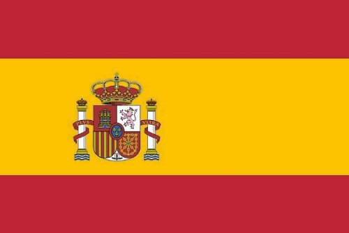 Foto de Alta calidad de la bandera de España 90 x 150 cm reforzado Hissband