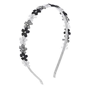 LUX Zubehör Weiß Grau Schwarz Multi Shimmer Blume Kristall Haarband