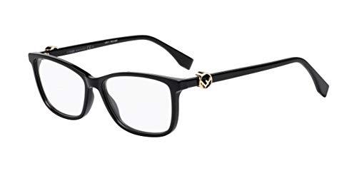 Fendi Damen Brillengestell Schwarz Schwarz 54 cm