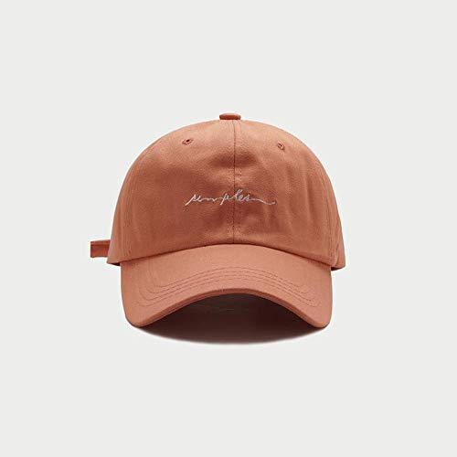 Low-profile-washed Twill Hut (Czcrw Baseball Cap Vintage Washed Twill Plain Hut 100% Baumwolle Pigment gefärbt Low Profile Fashion Letter Stickerei Casual Soft Top Baseball-Mütze (Color : Brown))