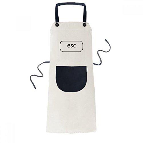 beatChong Tastatur Symbol Esc Kochen Küche Beige Adjustable Latzschürze Taschen Frauen Männer Chef-Geschenk