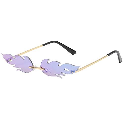 Lazzboy Mann Frauen Unregelmäßige Form Sonnenbrille Brille Vintage Retro Smart Change Semirandless Outdoor-reiten Sport Fahren Polarisierte Schutz Radfahren Skifischen Golf(G)