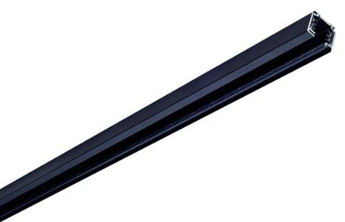 Preisvergleich Produktbild SLV EUTRAC 3PHASEN-AUFBAUSCHIENE Stromschiene Indoor-Lampe Aluminium / Kunststoff Schwarz Lampe innen,  Innen-Lampe
