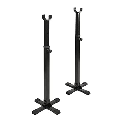 Physionics Adjustable Squat Barbell Power Rack Stand Weight Bench Support Home Gym Fitness from Physionics®