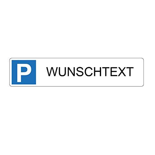 Wunschtext - Nummernschild Parkplatz/Querformat 520 x 110 mm - Direktdruck auf 4 mm AluDibond - ohne Bohrung