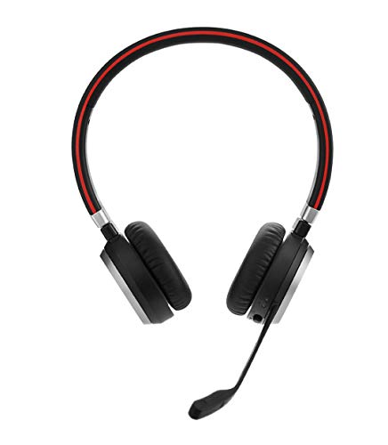 Jabra Evolve 65 UC Stereo Wireless-Bluetooth-Headset für PC/Smartphone/Tablet, telefonieren und Musik hören, für Unified Communications optimiert Wireless Binaural Noise Cancelling Headset