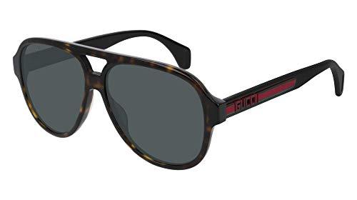 Gucci Sonnenbrillen (GG-0463-S 003) havana dunkel - schwarz glänzend - grau-grün (Männer Sonnenbrillen Gucci)